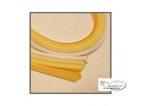 Scrapbooking - papírové proužky 50x0,5cm set bílo-béžový