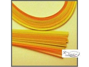 Papírové proužky 50x0,5cm set žlutý