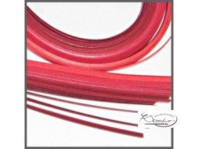 Papírové proužky 50x0,5cm set červený