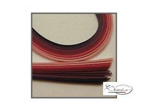 Papírové proužky 50x0,5cm set růžovo-fialový