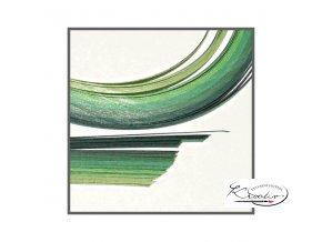 Papírové proužky 50x0,5cm set zelený
