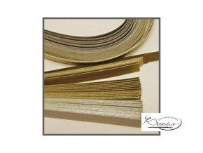 Papírové proužky 50x0,5cm set stříbro-zlatý