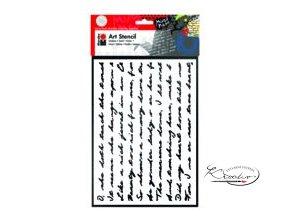 Art Stencil Marabu - Script