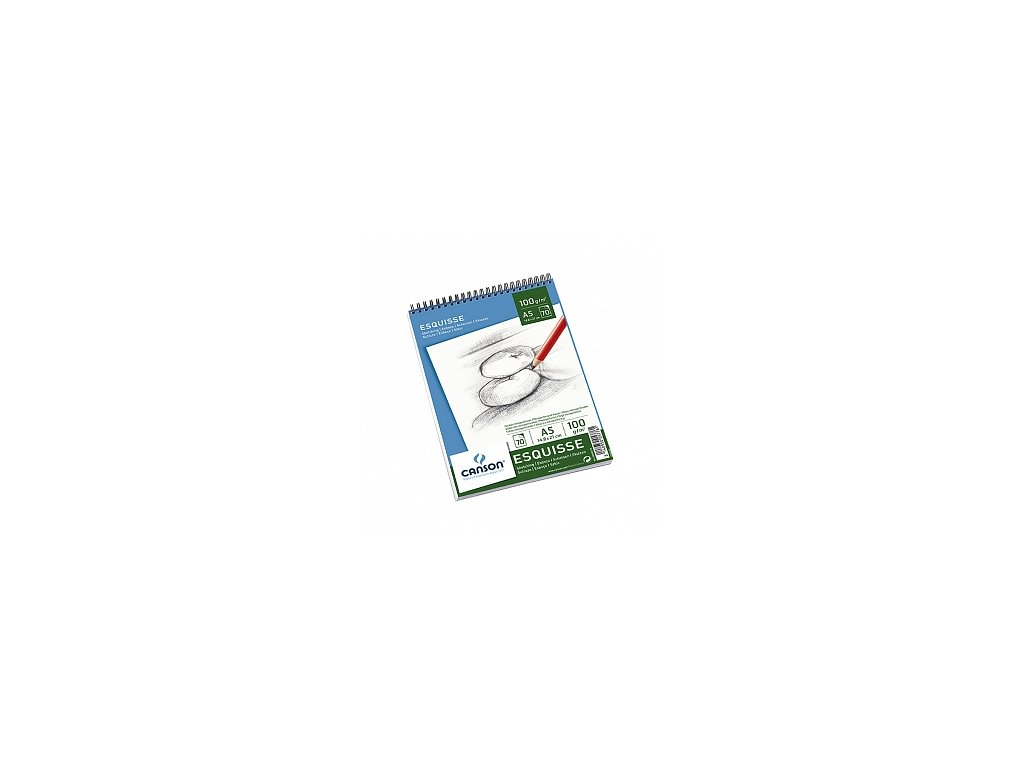 Skicák v kroužkové vazbě (100g/m2), A5, A4, A3