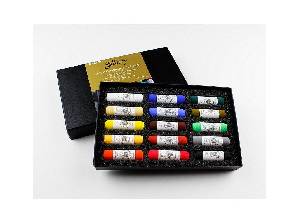 Sada měkkých pastelů - ruční výroba, Sada 15 ks