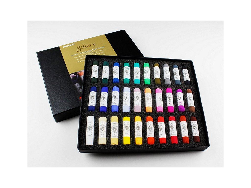 Sada měkkých pastelů - ruční výroba, Sada 30 ks