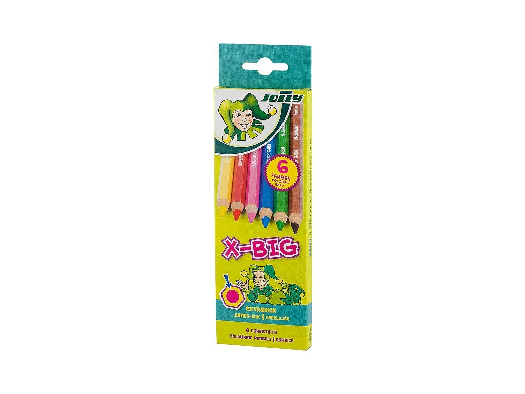 Pastelky Jolly X-Big - sada, 6 ks