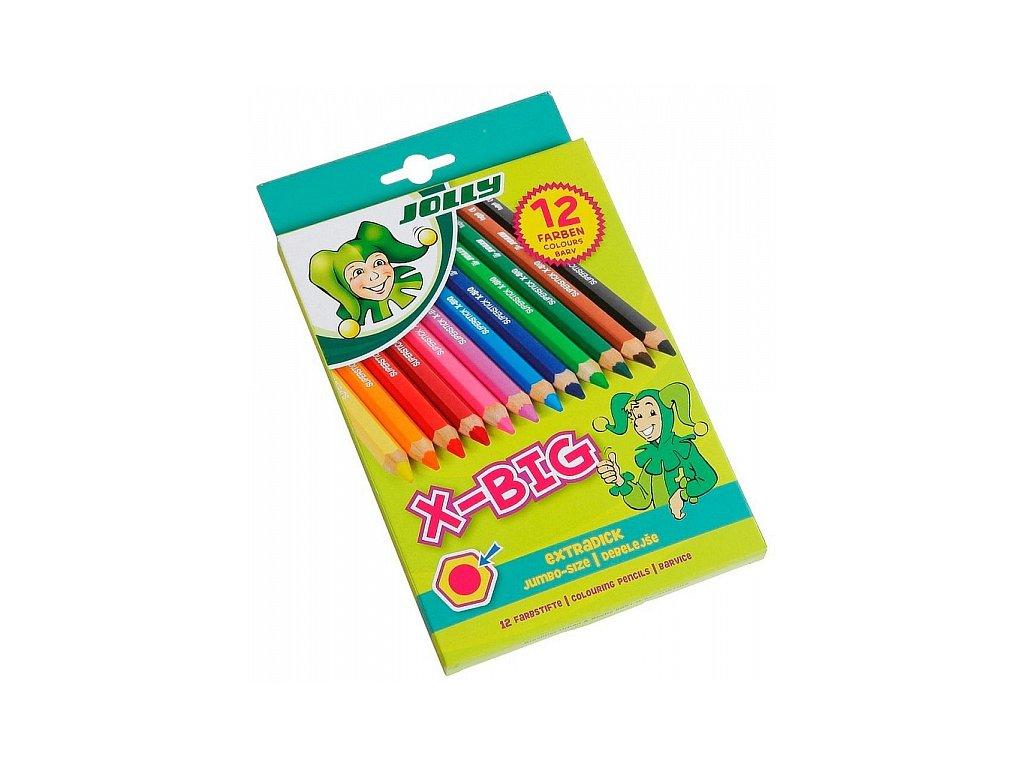 Pastelky Jolly X-Big - sada, 12 ks