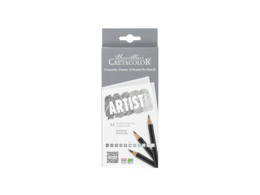 Cretacolor Sada studiových grafitových tužek (12 ks)