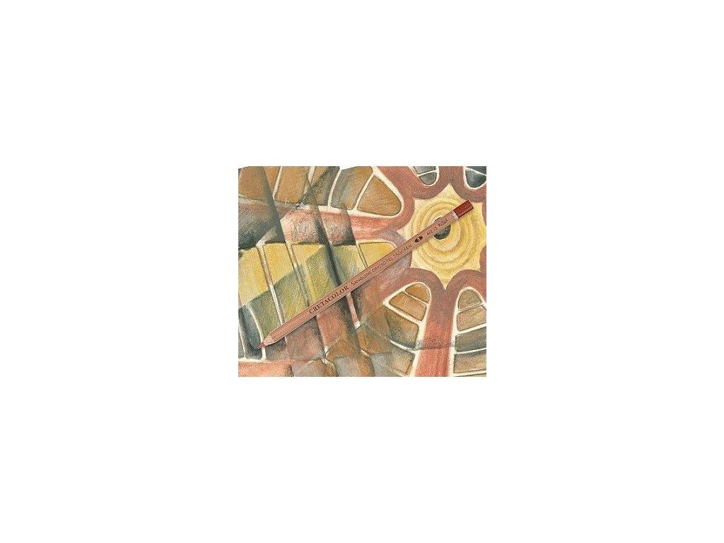 Umělecká rudka suchá v tužce SANGUINE - hnědočervená