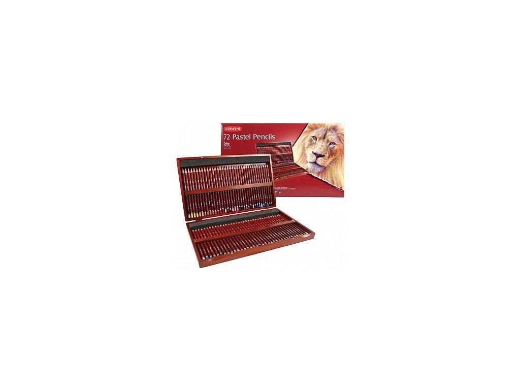 Pastel Pencil - sada uměleckých pastelů - dřevěný kufřík, 72 ks