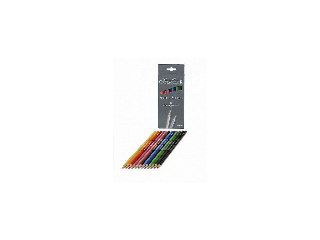 Sada barevných tužek Artist Studio, 12 ks