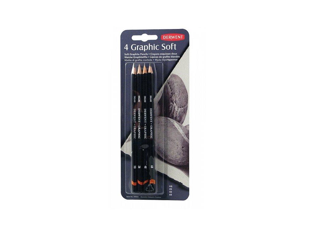 Graphic - sada 4 grafitových tužek, Soft - Sketching