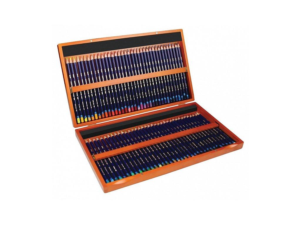 Inktense - sada akvarelových pastelek - dřevěný kufřík, 72 ks