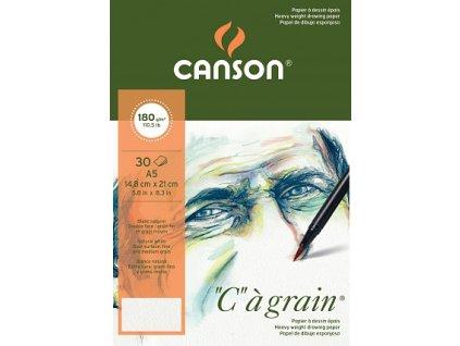 """""""C"""" à grain skicák - lepený na krátké straně (180g/m2, 30 archů) A5, A4, A3"""