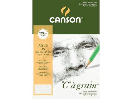 """""""C"""" à grain skicák - lepený na krátké straně (125g/m2, 30 archů)"""