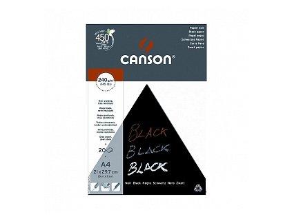 Skicák černý (240 g/m2, 20 archů), A4, A3
