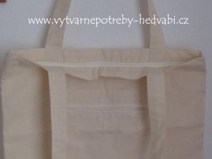 Bavlněná taška přes rameno na zip
