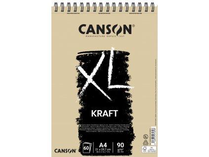 XL Kraft - kroužková vazba (90 g/m2, 60 archů), A4, A3
