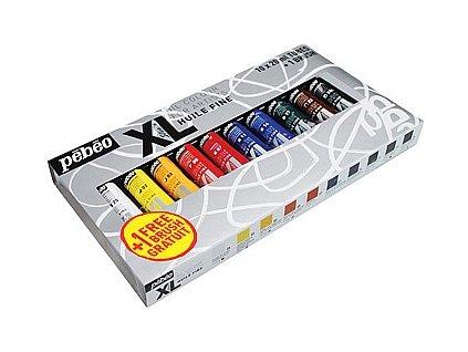 Sada olejových barev Studio XL (+ štětec), 10 x 20 ml