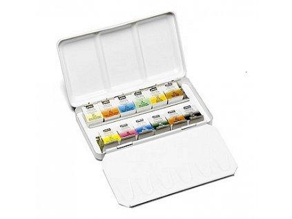 Kapesní kovová sada akvarelových barev (12 ks)