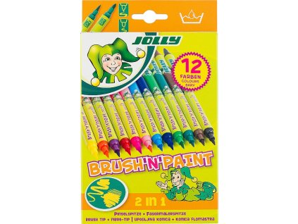 Fixy Jolly Brush'n'Paint - sada 12 ks