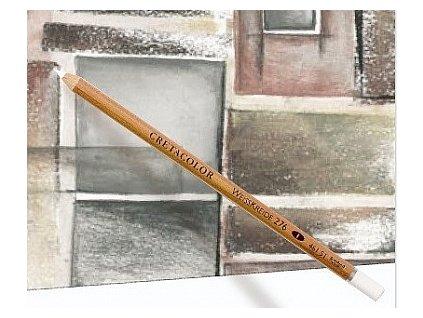 Umělecký bílý pastel v tužce - 3 tvrdosti