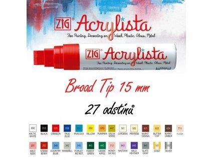 Acrylista Broad Tip vzornik