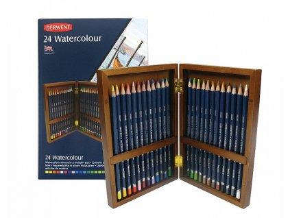 Watercolour - sada akvarelových pastelek - dřevěný kufřík