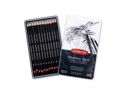 Graphic - sada grafitových tužek, Soft - Sketching (12 ks)