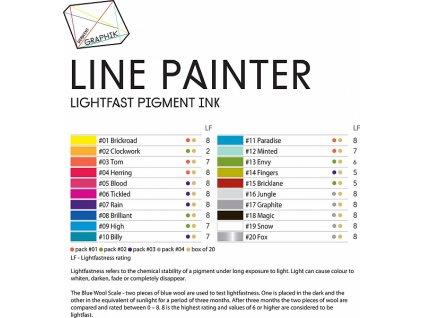 Krycí pera- Graphik Line Painter - jednotlivě