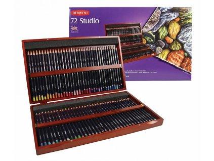 Studio - sada pastelek - dřevěný kufřík, 72 ks