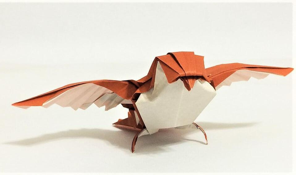 ptak-origami