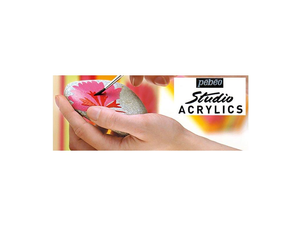 77 6 akrylova barva pebeo studio acrylic 100 ml 011 beloba titanova