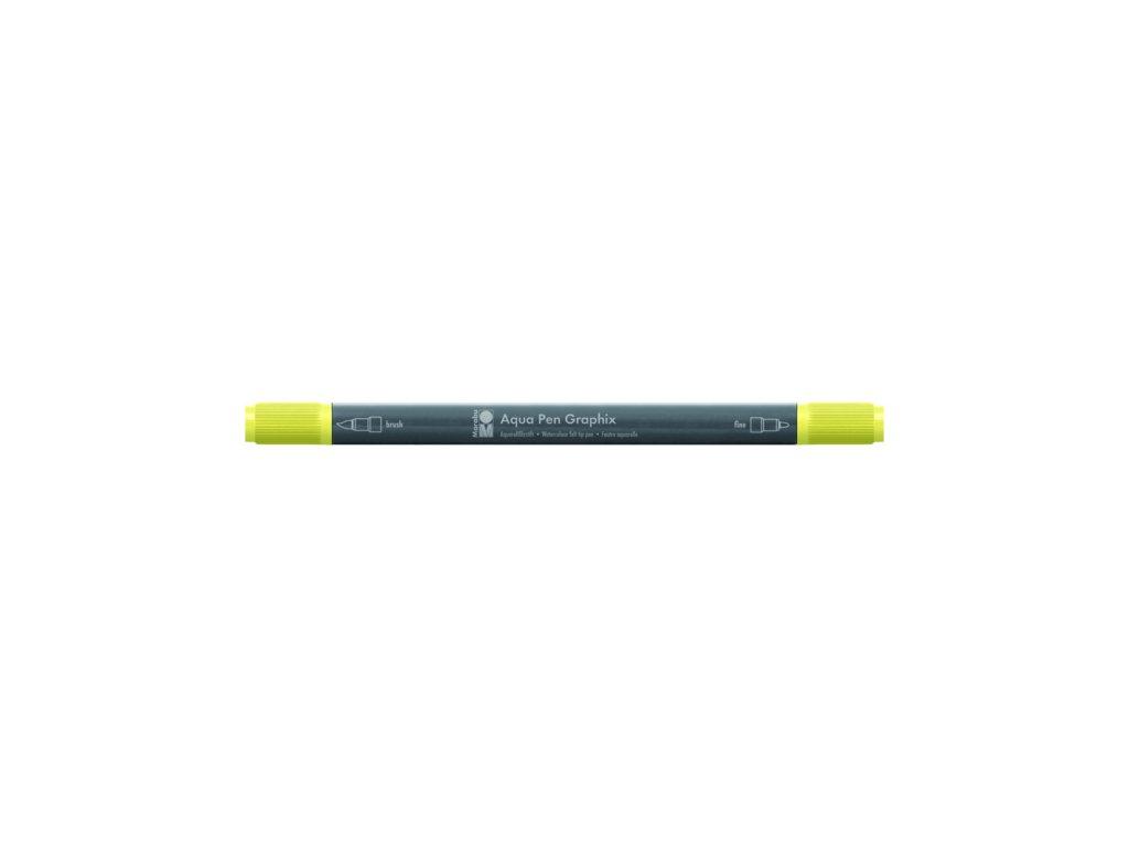 455 1 akvarelovy fix oboustranny aqua pen graphix zluta citronova 020