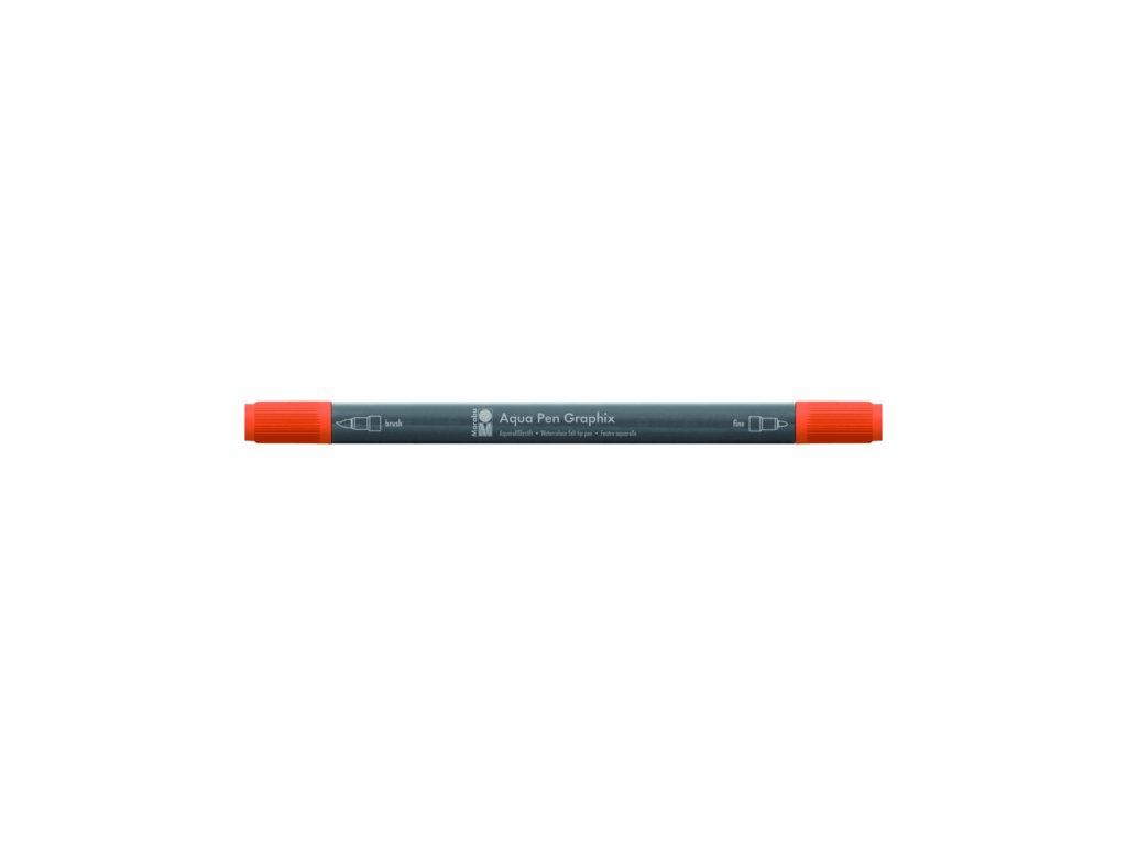 458 1 akvarelovy fix oboustranny aqua pen graphix cerveno oranzova 023