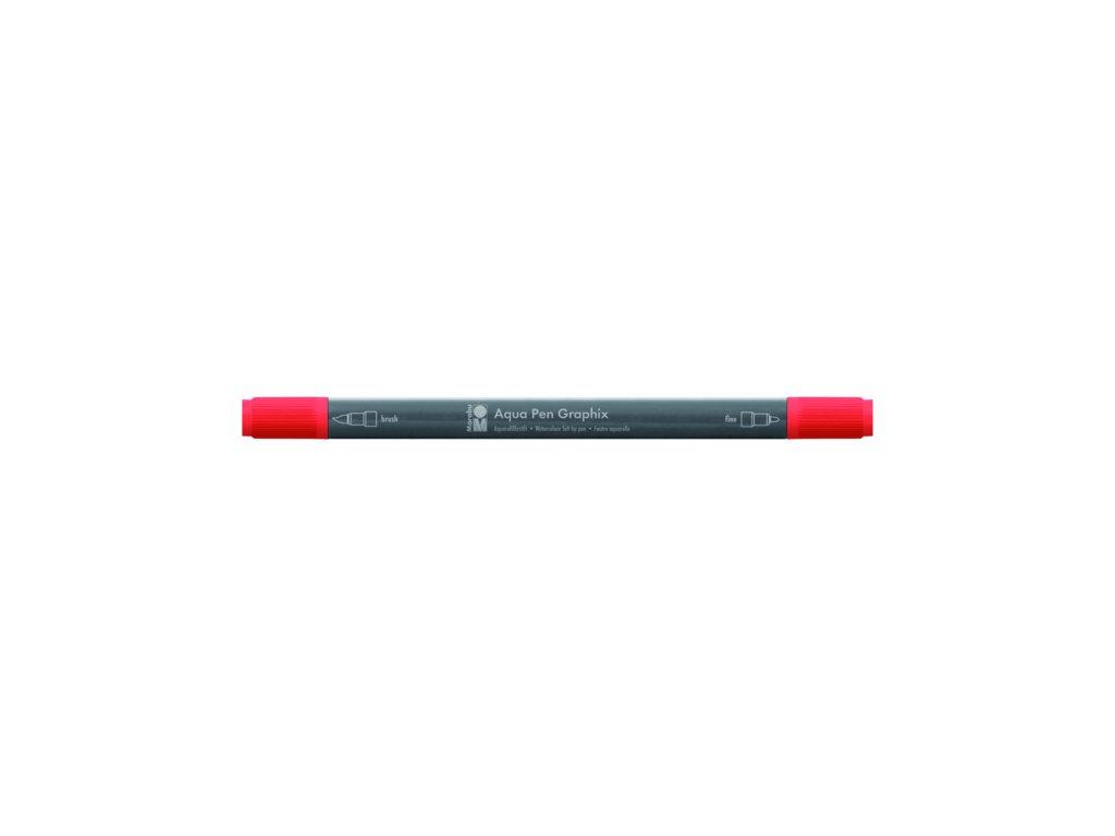 464 1 akvarelovy fix oboustranny aqua pen graphix cervena rumelka 030