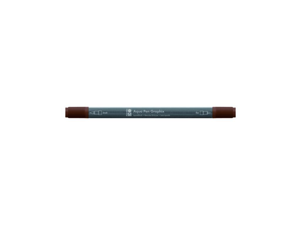 473 1 akvarelovy fix oboustranny aqua pen graphix hneda tmave 045