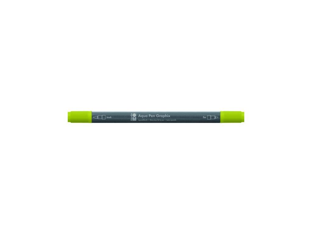 479 1 akvarelovy fix oboustranny aqua pen graphix zelena tmava 068