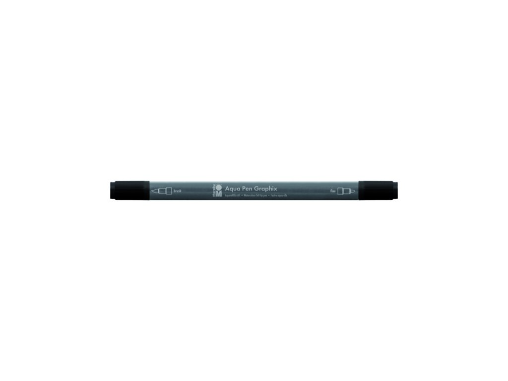 482 1 akvarelovy fix oboustranny aqua pen graphix cerna 073