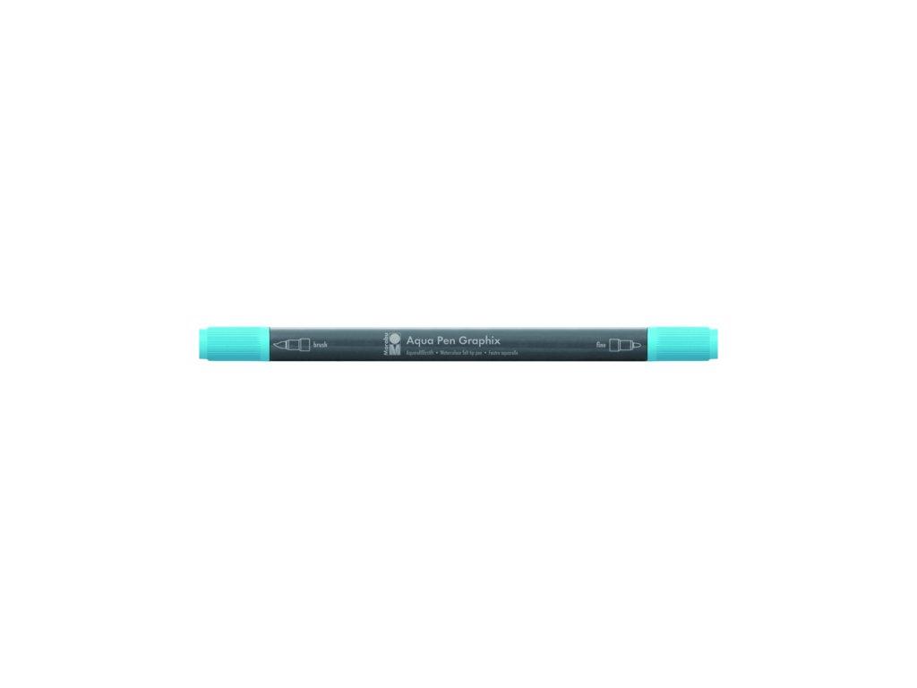 491 1 akvarelovy fix oboustranny aqua pen graphix modra svetla 090