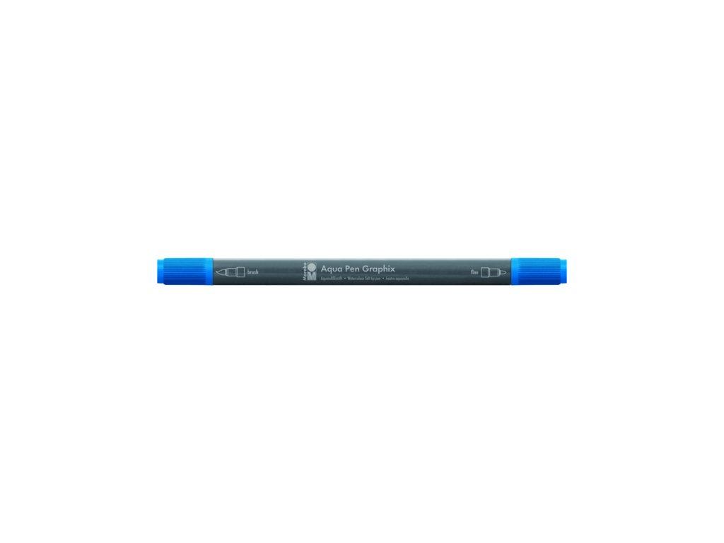 497 1 akvarelovy fix oboustranny aqua pen graphix modra azurova 095