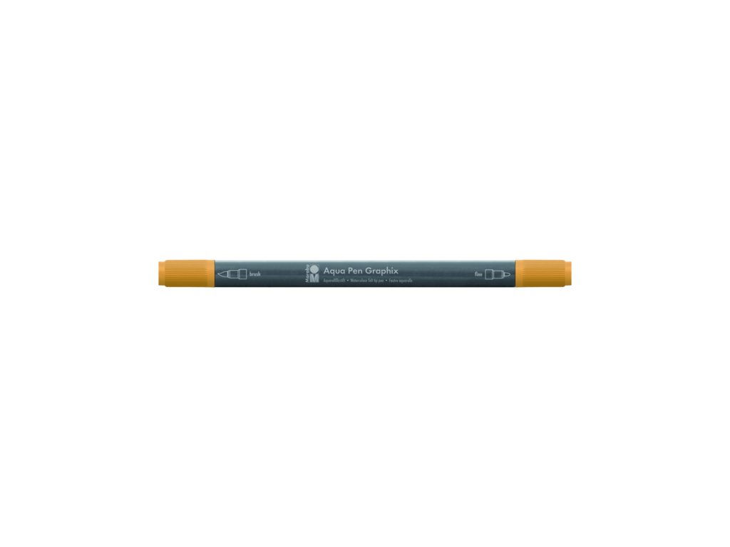 512 1 akvarelovy fix oboustranny aqua pen graphix oranzova mandarinkova 225