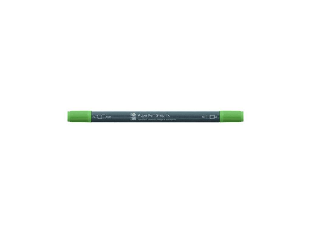 515 1 akvarelovy fix oboustranny aqua pen graphix zelena anticka 266