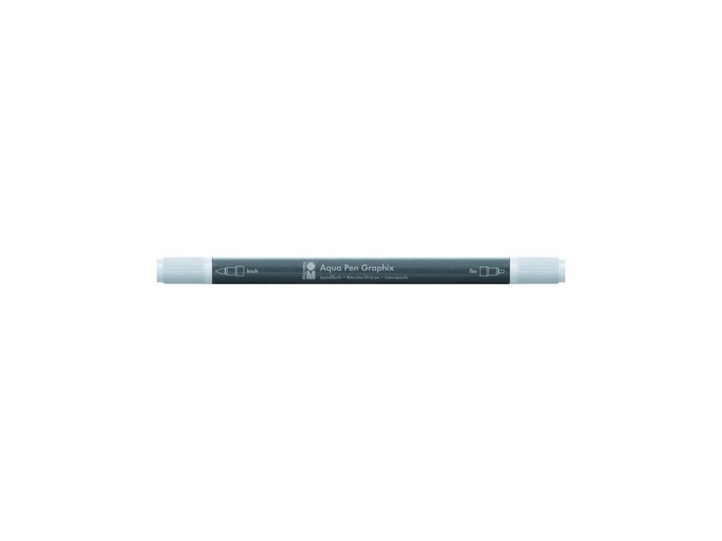 518 1 akvarelovy fix oboustranny aqua pen graphix seda svetla 278
