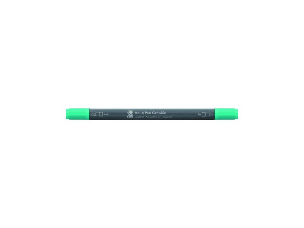 524 1 akvarelovy fix oboustranny aqua pen graphix zelena aqua 297