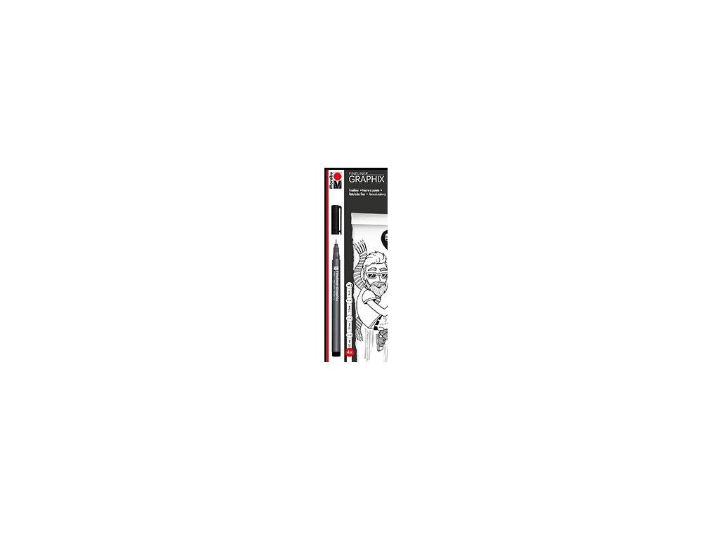 542 2 popisovace linery marabu fineliner graphix sada 4 ks