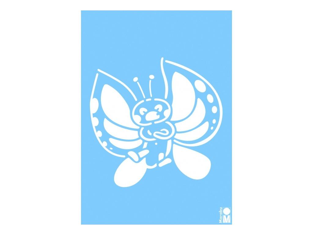 Šablona Marabu A4 - Motýl
