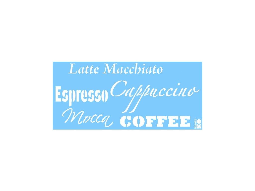 Šablona Marabu 15x33cm Coffee