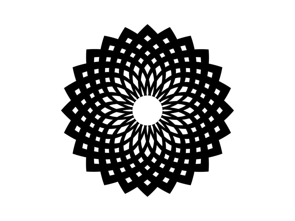 Šablona Marabu pro Fashion spray 15x15cm - Oriental ornament